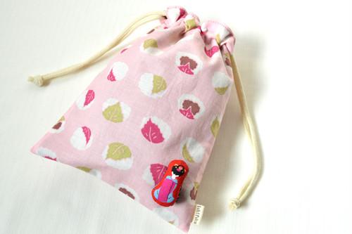 【お試し特別価格】 巾着 桜餅 舞妓さん