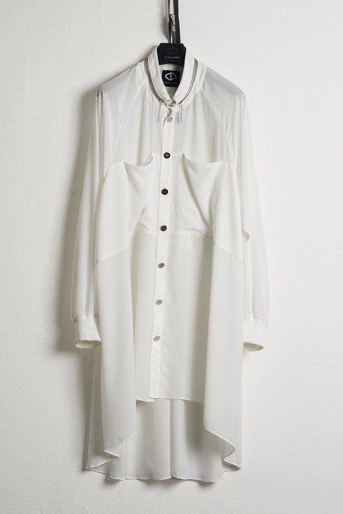 Buckle Rib Shirts / White [21SS COLLECTION]