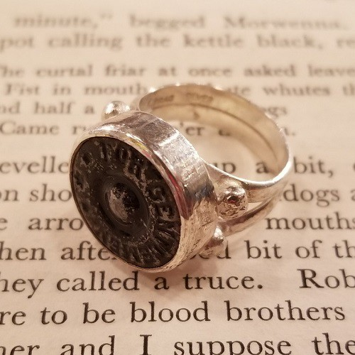 HANDMADE SILVER RING made by FRAG アンティークボタンリメイク
