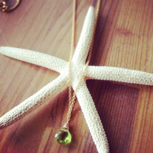 14kgf Olivine Necklace