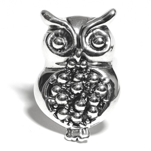 Vintage Sterling Silver Mexican Owl Ring