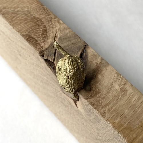 【セミオーダー可】枝付きカルダモンのピンズ(真鍮製)