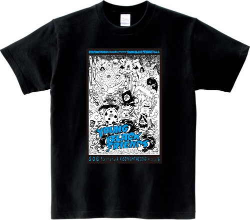 YOUNG BLACK FRIENDS Tシャツ