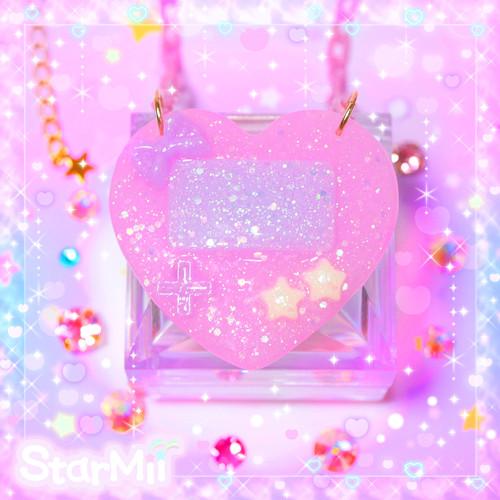 ハートのゲーム機ネックレス♪(ピンク)