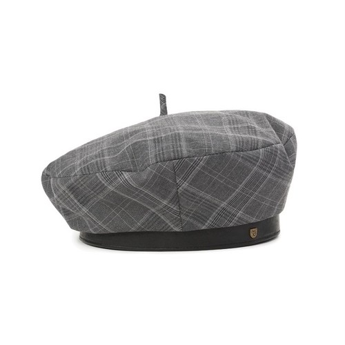 BRIXTON #Audrey Ⅱ Beret GREY PLAID