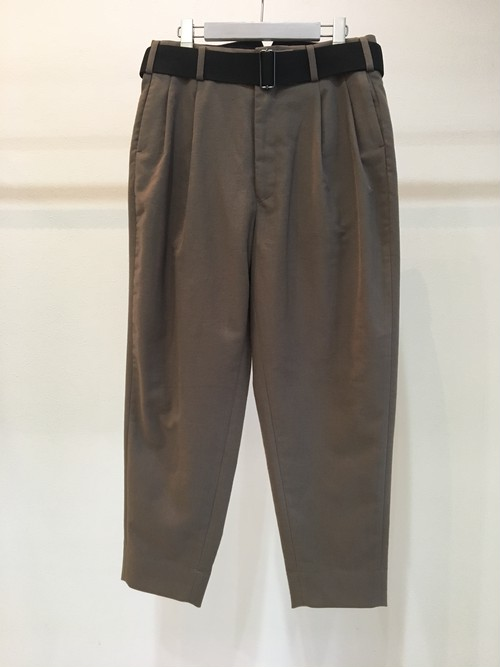 2TUCK TAPERED KERSEY PANTS / JieDa