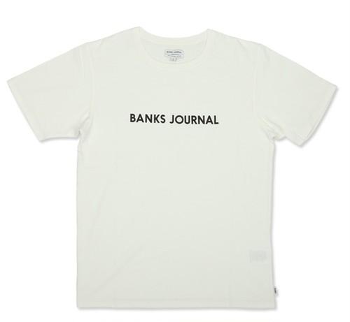BANKS JOURNAL (バンクスジャーナル) LABEL STAPLE  Tシャツ ATS0369  OFF WHITE