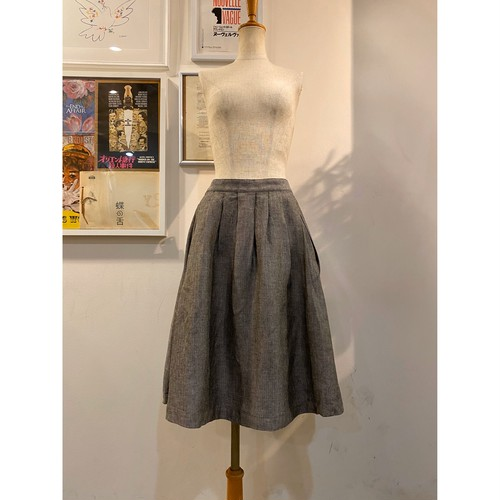 MARGARET HOWELL linen skirt