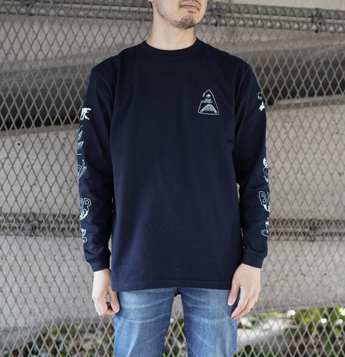 【送料無料】BURR Long Sleeve - Navy