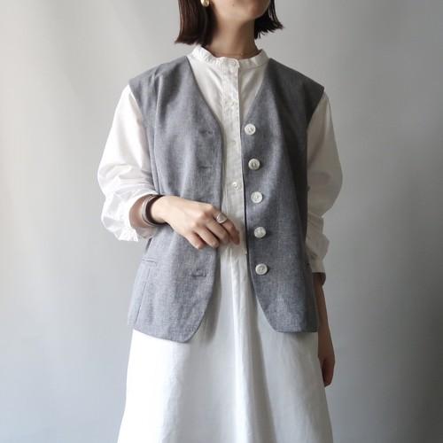 Blue-gray color vest
