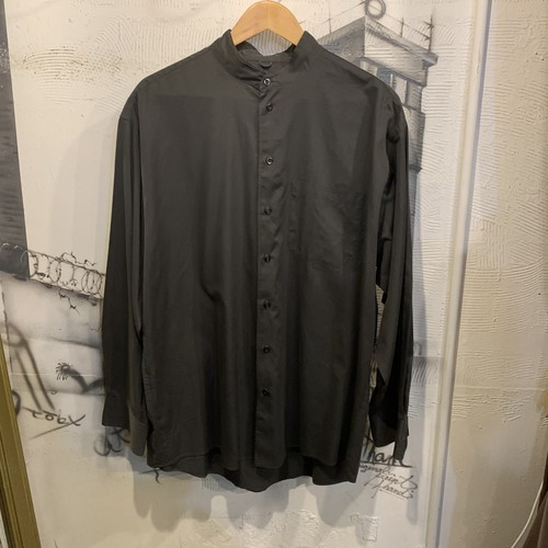 cotton stand collar shirt