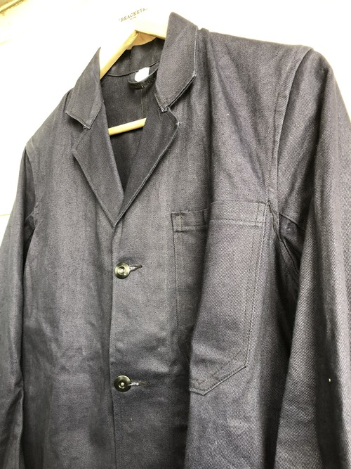 Deadstock 1960s British blue drill work jacket