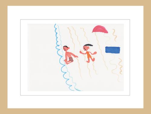 プリント額絵:KASUMI作「サマー・ビーチ」