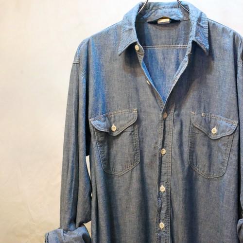 【VINTAGE】70's OSHKOSH シャンブレーシャツ
