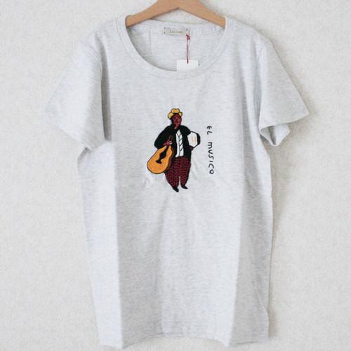 刺繍Tシャツ(音楽家 glay) /Msize/283a/ ilo itoo / GUATEMALA グアテマラ