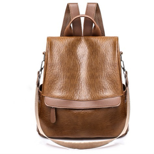 Leather Backpack Vintage Bag Casual Travel Rucksack Backpack カジュアル レザー バックパック リュック ビンテージ (HF99-5654578)