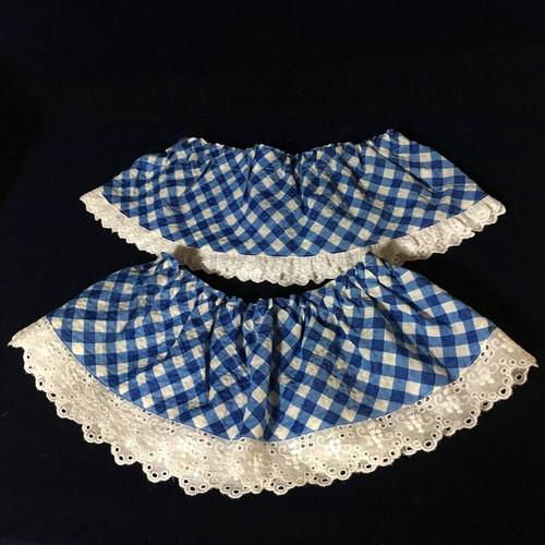 ラシーちゃん中サイズ用レースつきスカート ブルー