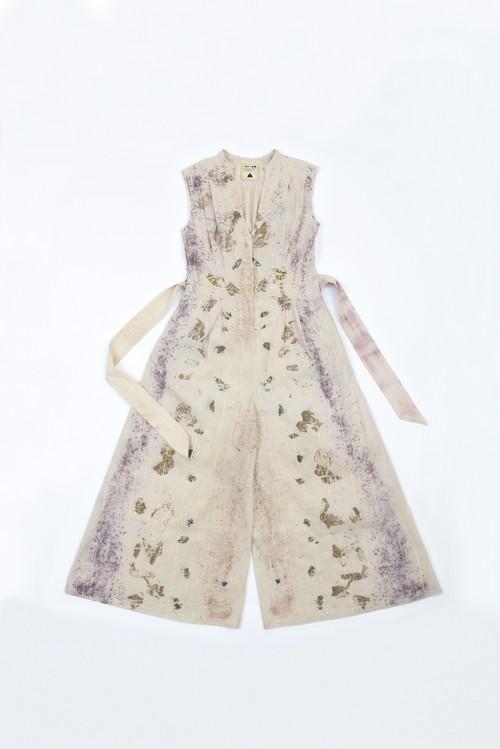 花びら染 ethnic pants dress purple