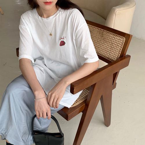ストロベリーTシャツ&ブルースカート U3911