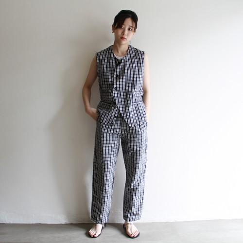 OUTIL  【 womens 】gilet hem check