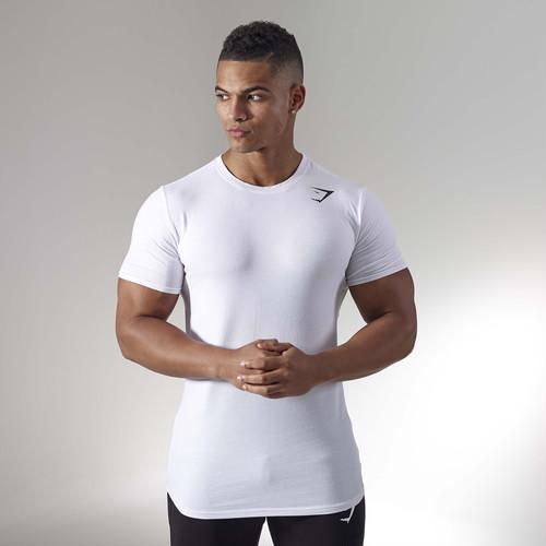 GymShark ジムシャーク ARK Tシャツ– 白【White】 メーカー直輸入品!