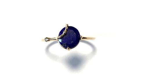 R10-0035-LP 【K10 lace w/bd lapis lazuli ring】