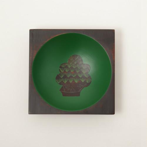 香川漆器 中田漆木 さぬき角丸ボウル うるし絵 6種類