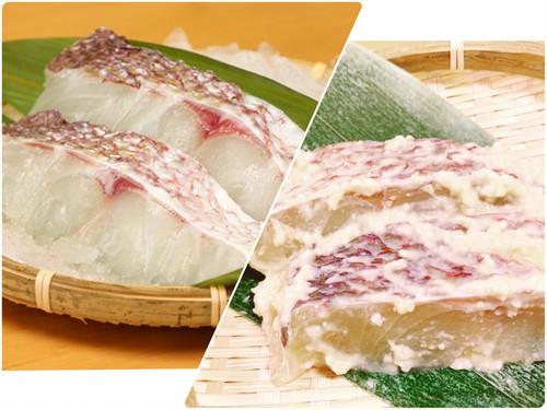 最高の真鯛食べ比べ!天草産「真鯛の切り身&西京漬けセット」