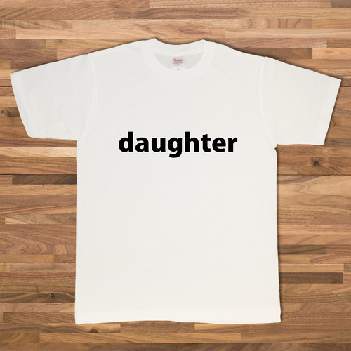 DAUGHTER Tシャツ/ホワイト【CWE-041WH】