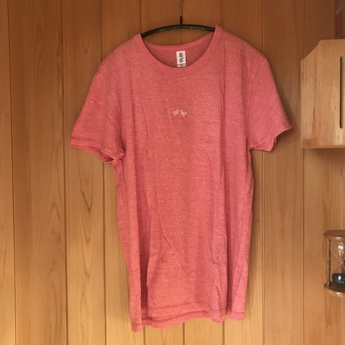 刺繍Tシャツ 地面の鳥