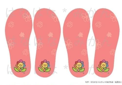 視覚学習「みるみる足型マーク」(はなちゃん・ピンク)