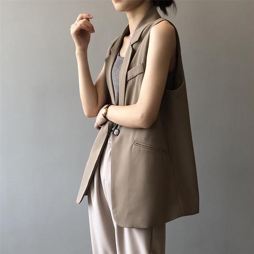 3色/スタイルベストジャケット ・2744