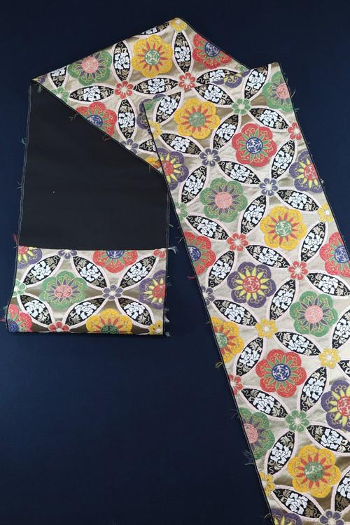 袋帯 西陣織 七宝牡丹文