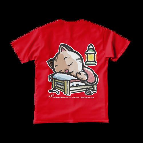 <レッドTシャツ 両面>おやすみーちゃん