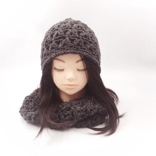 ぷくぷくニット帽*ブラック