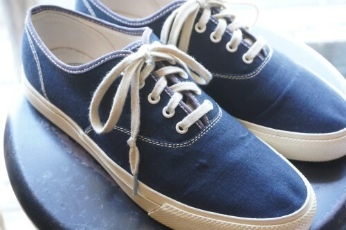 "RRL by Ralph Lauren canvas Sneaker ""INDIGO"""
