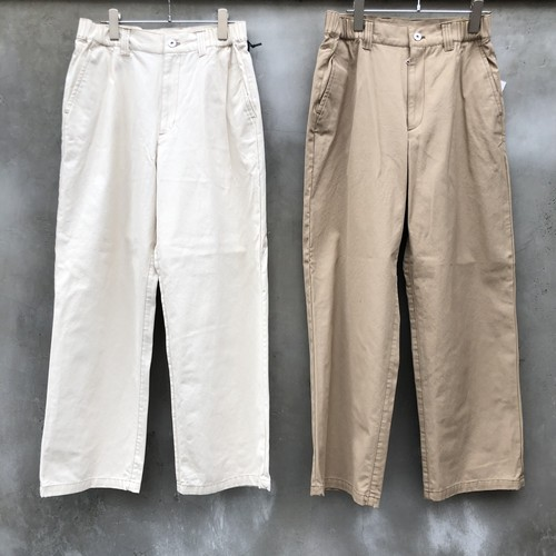 """KIIT """"20/2 light canvas side gather easy trousers"""""""