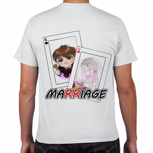 MARRIAGE(背面) Tシャツ ホワイト