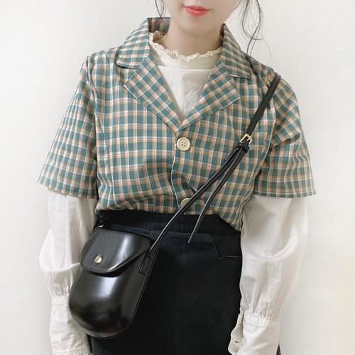 ショートチェックシャツ[L722-1]