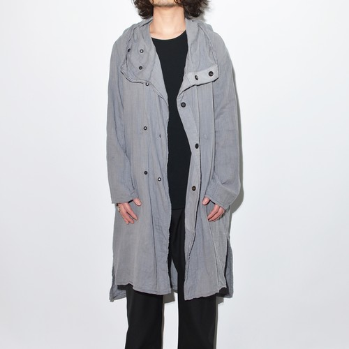 All Matching Hoodie Coat - Double Gauze 〈Grey〉