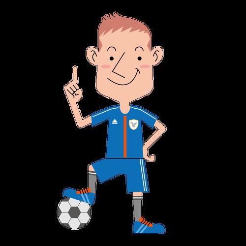 〈無料イラスト素材〉サッカー選手の表情・ポーズいろいろ