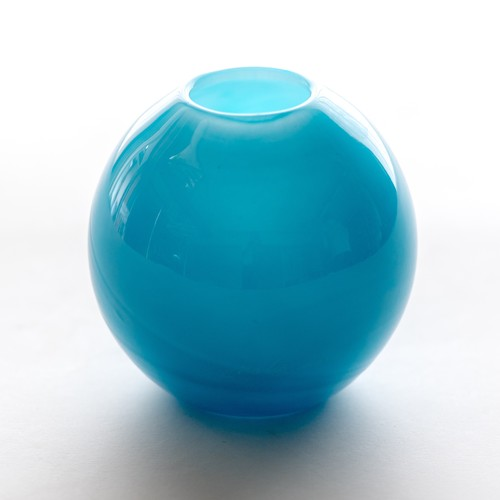 Balloon vase S -water blue- <受注生産>