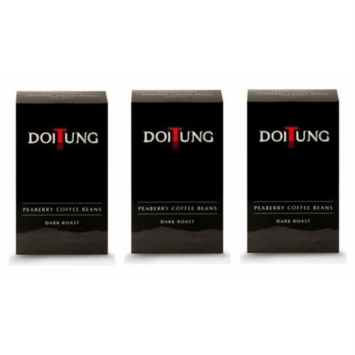 ドイトンコーヒー ピーベリー ダークロースト/Doi Tung Coffee Peaberry Beans Dark Roast 200g×3個