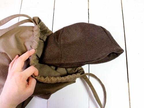 HELMA HAT   FLANNEL WOOL c/#BROWN【M58/L61】