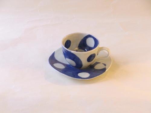 有田焼 丸紋ひねり コーヒー碗皿