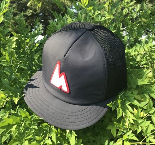 hsc-07 『WORKROWN×huntstored』 ・【RED】(FLAT SHORT) MESH CAP