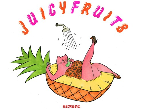 NONCHELEEE × asuka ando「Relax 麻友子 JUICY FRUITS」Tシャツ!