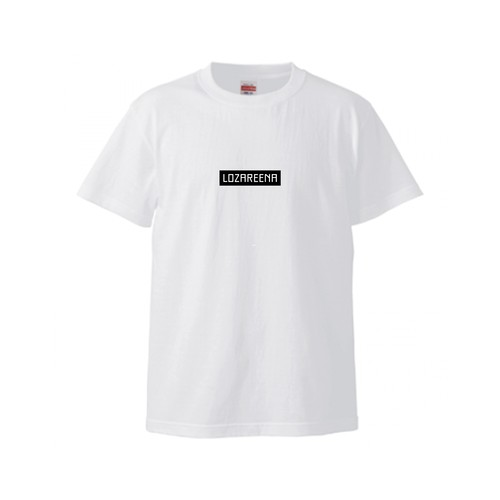 Box Logo Tee -White x Black-
