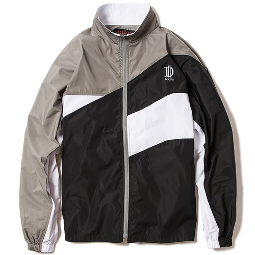 【Deviluse | デビルユース】Nylon Track JKT(Gray×Black)