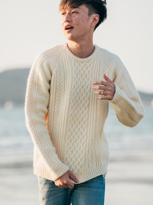 【11/25(wed)21:00 販売開始】ThreeArrows Wool Knit (ivory)